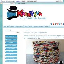 Kreattivablog: Cestino con cannucce di carta [tutorial]