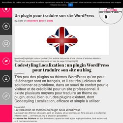 Le KrédactionUn plugin pour traduire son site Wordpress