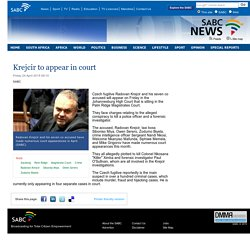 Krejcir to appear in court:Friday 24 April 2015