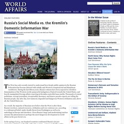 Russia's Social Media vs. the Kremlin's Domestic Information War