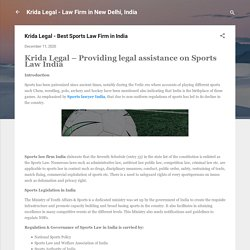 Krida Legal - Best Sports Law Firm in India