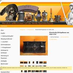 Eisentruhe/Kriegskasse um 1650-1700 - Shop-Antik-Sammlerbörse