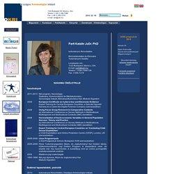 Országos Kriminológiai Intézet - Dr. Parti Katalin önéletrajz