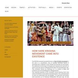 How did Hare Krishna Movement Start?
