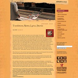 Krishna Das - Translations, Lyrics & Notes