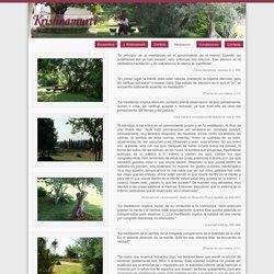 krishnamurti.es: Meditacion