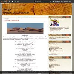 La poésie de Krishnamurti - Extraits du Laboratoire d'Ariaga