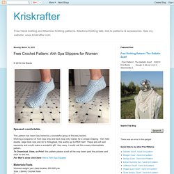 Free Crochet Pattern: Ahh Spa Slippers for Women