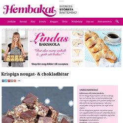 Krispiga nougat- & chokladbitar