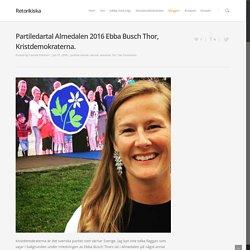Partiledartal Almedalen 2016 Ebba Busch Thor, Kristdemokraterna.