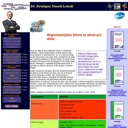 dr. Kristijan Musek Lesnik - clanek - organizacijska klima in stres