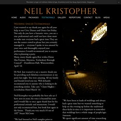 Wedding Singer Neil Kristopher - Clients & Testimonials