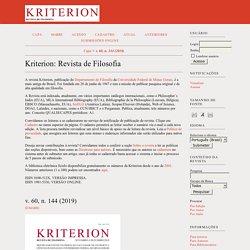 Kriterion: Revista de Filosofia