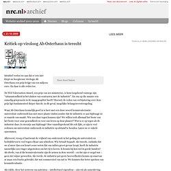 Kritiek op viroloog Ab Osterhaus is terecht