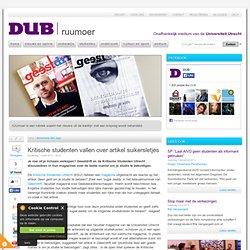DUB: Kritische studenten vallen over artikel suikersletjes