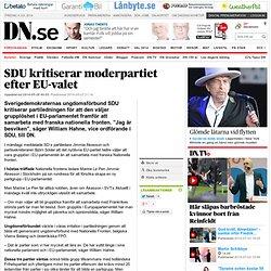 SDU kritiserar moderpartiet efter EU-valet