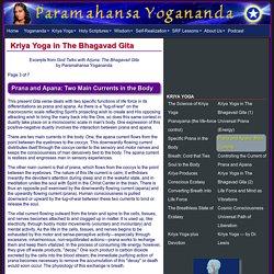 Kriya Yoga Pranayama in the Bhagavad Gita