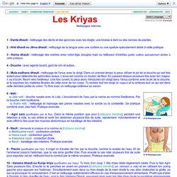 Les kriyas ou nettoyages internes du corps