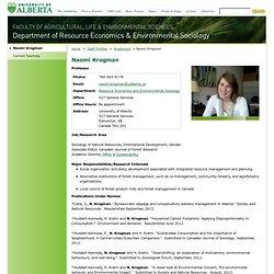 Naomi Krogman - University of Alberta