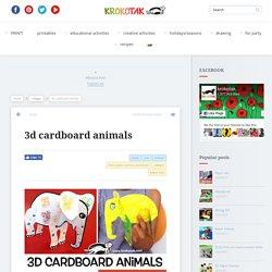 3d cardboard animals