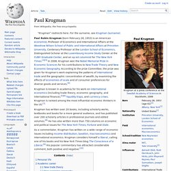 Paul Krugman in Wikipedia