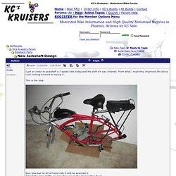 KC's Kruisers - Motorized Bike Forum - New Jackshaft Design