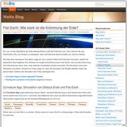 Flat-Earth: Wie stark ist die Krümmung der Erde? - Waltis Blog - Walter Bislin