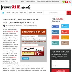 Krunch US: Create Slideshow of Multiple Web Pages Into One