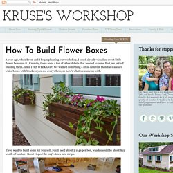 How To Build Flower Boxes