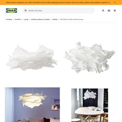 KRUSNING Stínidlo závěsné lampy, bílá, 85 cm