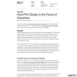 Mike Kruzeniski – How Print Design is the Future of Interaction