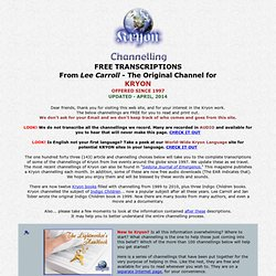 Channelling menu page