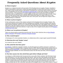 Kryptos FAQ
