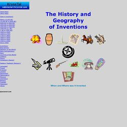 The History and Geography of Inventions - StumbleUpon