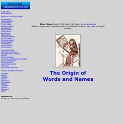 The Origin of Words and Names