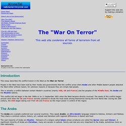 "USA: The ""War On Terror"""
