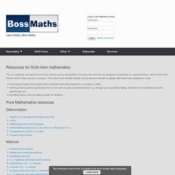 KS5 – BossMaths.com