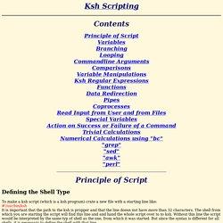 KSH script BASICS