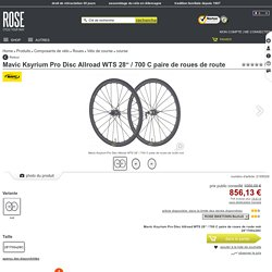 """Mavic Ksyrium Pro Disc Allroad WTS 28"""" / 700 C paire de roues de route Acheter pas cher à la boutique en ligne"""