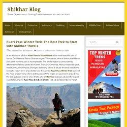 Kuari Pass Trek - Shikhar Travels