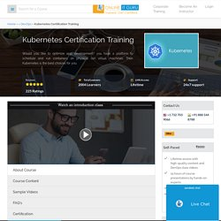 Kubernetes Certification Course