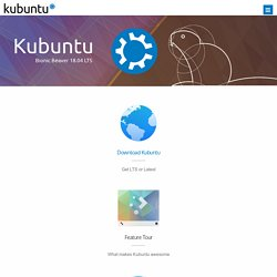 Kubuntu | Friendly Computing