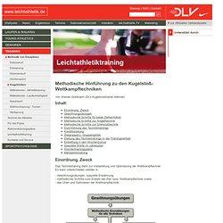 Kugelstoßen - Methodik von Disziplinen - Training - leichtathletik.de