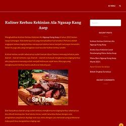 Kuliner Kerbau Kekinian Ala Ngasap Kang Asep
