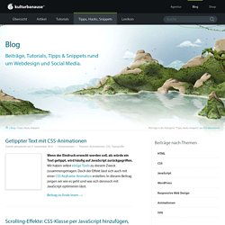 kulturbanause® blog - Artikel, Tipps und Trainings zum Thema Responsive Web Design, WordPress, Photoshop und Social Media