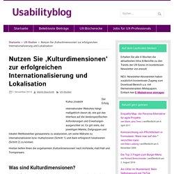 Nutzen Sie 'Kulturdimensionen' zur erfolgreichen Internationalisierung und Lokalisation - Usabilityblog.de