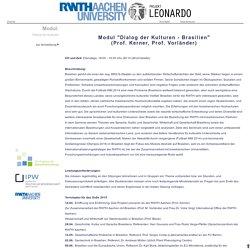 Modul Dialog der Kulturen Projekt Leonardo - RWTH AACHEN