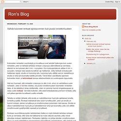 Ron's Blog: Vaihda kuluneet renkaat ajoissa ennen kuin joudut onnettomuuteen