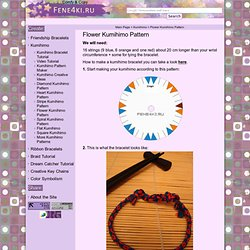 Flower Kumihimo Pattern. Friendship Bracelets. Bracelet Patterns. How to make bracelets der