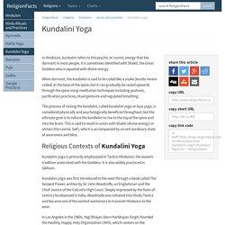 Kundalini Yoga - Hinduism Practices Kundalini Yoga
